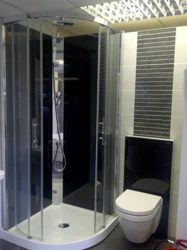 Shower wall and tiles