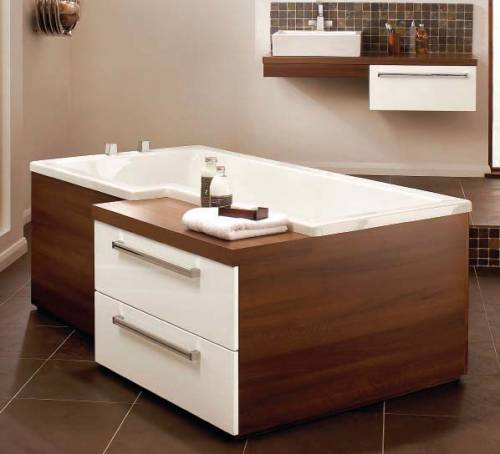 Bath with Integrated Furniture