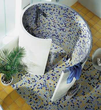 Wet room shower – spiral